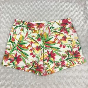 J. Crew 8 Shorts Floral Print Chino Flat Front